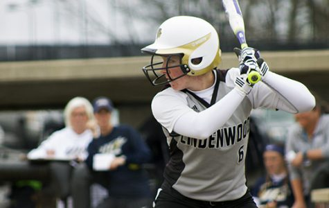 Lindenwood's Keri Sheehan squares up for the pitch during a game last season against the University of Illinois Springfield on March 28, 2017.  <br> Photo by Kelly Logan </br>