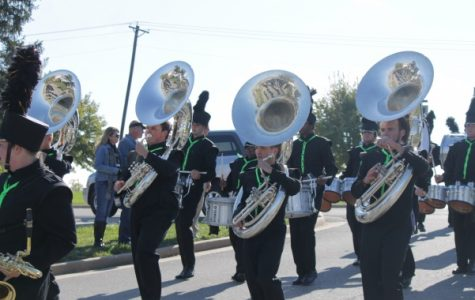 The Lindenwood Golden Lion Marching Band will be moving to athletics. Students will have more scholarship opportunities available to them, according to Associate Professor of Music Ryan Curtis<br> File photo by Annette Schaefer