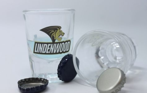 These shot glasses are currently available for purchase in our school book store, yet they are illegal to have on campus. photo by Lindsey Fiala