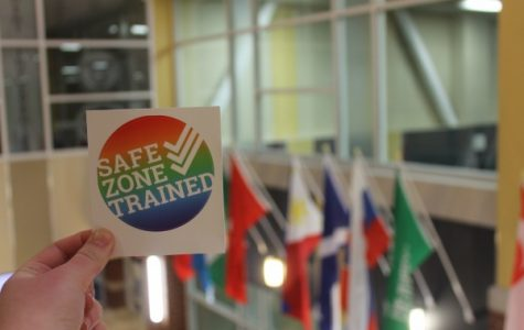 The Safe Zone Project is a campaign to educate campuses on LGBTQ rights. <br />Photo by Arin Froidl