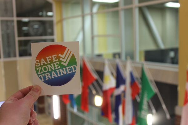 The+Safe+Zone+Project+is+a+campaign+to+educate+campuses+on+LGBTQ+rights.+Photo+by+Arin+Froidl