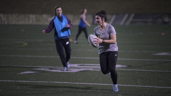 Lindenwood+women%27s+rugby+player+Caring+De+Freitas+carries+the+ball+at+training+in+Hunter+Stadium.%0A+Photo+by+Mitch+Kraus