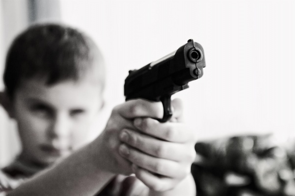 Banning assault rifles won't protect American children from the dangers of the world.  Photo from pixaby.com