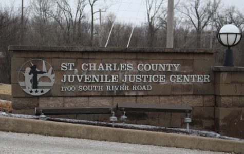 The sign outside of the St. Charles County Juvenile Justice Center. <br> Photo by Abby Stone