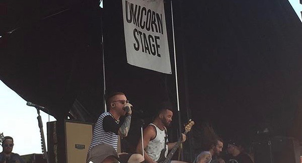 Memphis May Fire on the 2015 Vans Warped Tour presented by Journeys on July 27 at the Hollywood Casino Amphitheater in Maryland Heights, MO. This year's Warped Tour will be the last of the long-running cross-country music festival. Photo by Megan Courtney