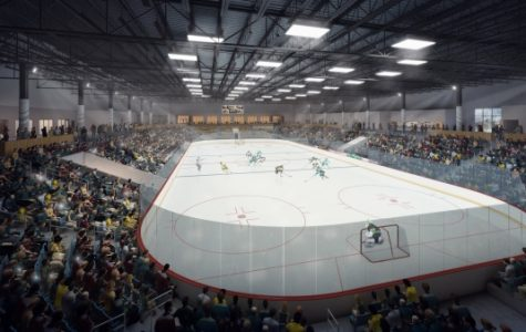 A rendering of the main arena in the ice center, which is projected to open next September  Image courtesy of Generator Studio.