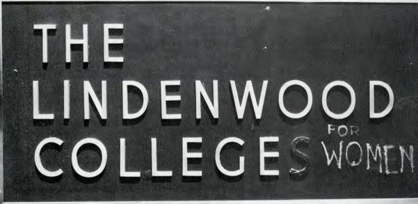 A+photo+from+the+1970+yearbook+of+a+Lindenwood+Colleges+sign+defaced+to+read+%22The+Lindenwood+College+for+Women.%22++Photo+from+the+Mary+E.+Ambler+Archives.++