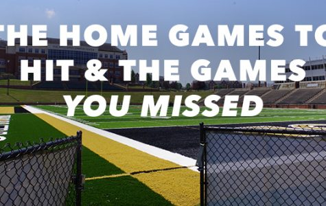 Home games to hit and the games you missed by Kat Owens