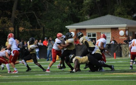 File photo from a Sept. 29 matchup between Lindenwood and Pittsburg State at Hunter Stadium. <br> Photo by Lindsey Fiala