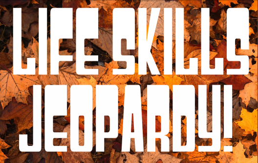 Kat Oleksa and Jenna Biagi, community advisors, are hosting a life skills Jeopardy event in Irwin Hall. <br> Graphic by Kat Oleksa.