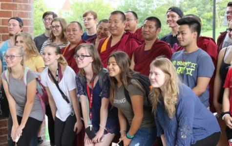 Tibetan monks come on campus to raise awareness