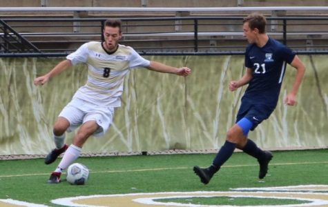 Scholl's hat trick leads men's soccer past Upper Iowa 4-1