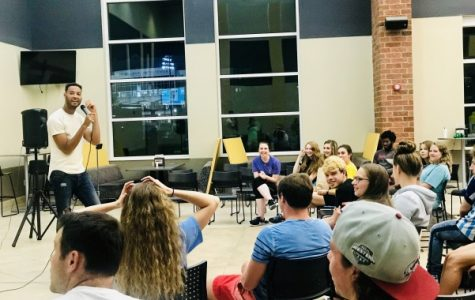Review: Comedian LeClerc Andre filled Evans Dining Hall with laughter
