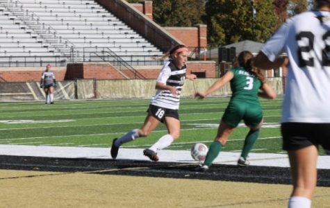 Lindenwood sophomore Alaina White (18) during the matchup against the Bearcats on Sunday.  <br /> Photo by Maria Escalona.