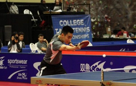 Jeff Yamada during the USA National College Table Tennis Championships in April 2017. <br> Photo courtesy of Jeff Yamada.