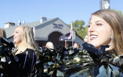 Junior Brady Smith dances during the homecoming parade alongside her teammates. Smith's homecoming story is the first of our three-part narrative. <br> Photo by Kayla Drake