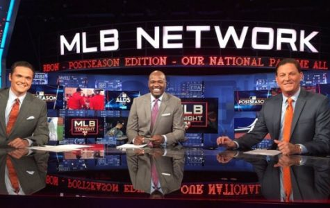 (From left) Hosts for the MLB Network Greg Amsinger and former professionals, analyst Harold Reynolds and Dan Plesac. <br> Photo from Greg Amsinger.