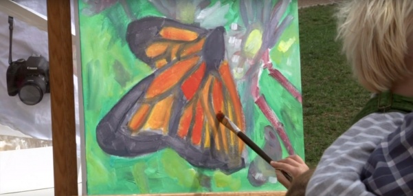 Monarch butterfly event held at Arch