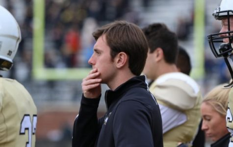 Football manager Zach Shepard during a game against Central Missouri.  <br />Photo by Merlina San Nicolás.