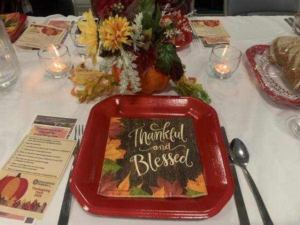 Thanksgiving Feast by International Student Fellowship on November 9, 2018 at Calvary Church, St. Peters.  Photo by Sandy Leegumjorn
