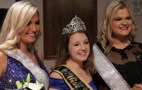 This year's Miss Lindenwood contestant winners. From left: Sarah Moore, second runner-up, Jordyn Lockhart, Miss Lindenwood, and Alaina Colclasure, people's choice.  <br> Photo by Kayla Drake