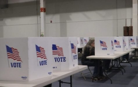 Voting sections set up at the St. Charles Election Authorities Office. On Nov. 6, polls will open to cast a midterm ballot.  <br> Photo by Kayla Drake