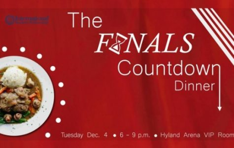 The Finals Countdown Dinner by International Student Fellowship is on Tuesday, Dec. 4 in the Hyland Arena VIP Room. Photo courtesy of International Student Fellowship