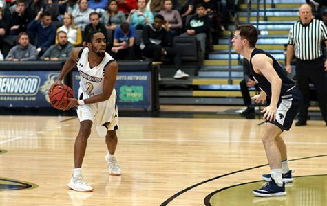 Senior Brad Newman, #2, was the had a career best performance at Thursday's game, scoring 41 points. File photo from a game against Missouri Baptist earlier in the season. <br> Photo by Mitchell Kraus