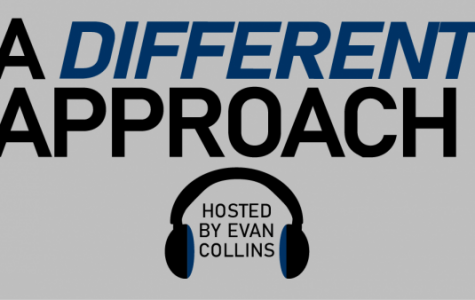 A Different Approach is a weekly podcast about the host's insights from his experience with Exodus90, a Catholic men's program of self-discipline.  <br> Graphic by Matt Hampton.