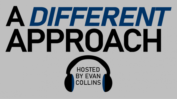A Different Approach is a weekly podcast about the host's insights from his experience with Exodus90, a Catholic men's program of self-discipline.   Graphic by Matt Hampton.