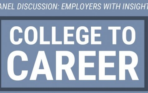 The panel of employers will share insights with students and take audience questions on Feb. 4 in Dunseth Auditorium. <br> Graphic from the Career Center