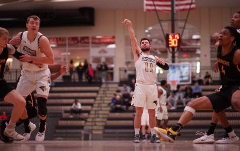 Lions guard Adam Pohlman sinks a free throw shot in the first half of the Lion's game against Missouri Western State. <br> File photo by Mitchell Kraus