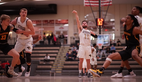 Lions guard Adam Pohlman sinks a free throw shot in the first half of the Lion's game against Missouri Western State.  File photo by Mitchell Kraus