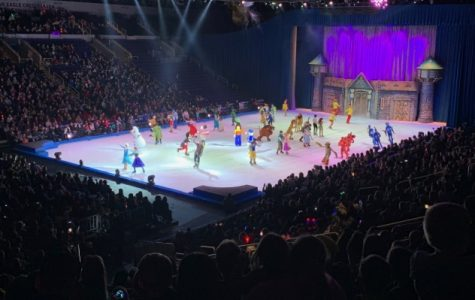 All of the characters in Disney on Ice during the last number of the show on Saturday, Feb. 2 at the Enterprise Center in St. Louis.  Photo by Megan Courtney
