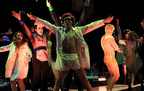 The Rocky Horror Show sold out five shows in the Emerson Black Box Theater this week. <br> Photo by Lindsey Fiala