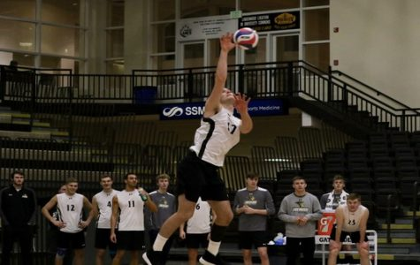Men's volleyball defeats Ohio State in four sets