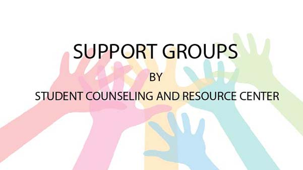 The Student Counseling and Resource Center has several new support groups available to students.  Graphic by Lindsey Fiala