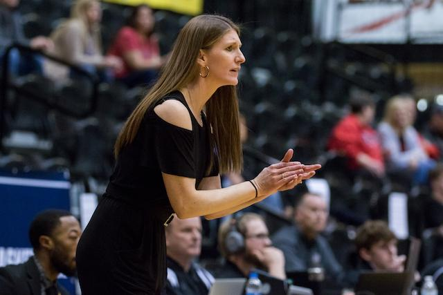 Coach Katie Falco's journey to Lindenwood University took her through Montana State and South Dakota State, where she served as an assistant coach.  Photo provided by Lindenwood Athletics