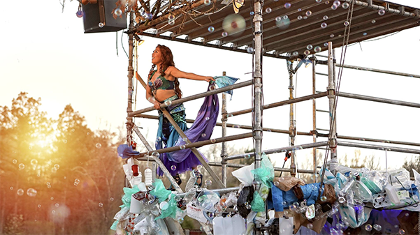 "The outdoor theater Serenbe Playhouse set out to make the entire set of ""The Little Mermaid"" out of recycled materials in 2018.  Photo used with permission from Joel Coady"