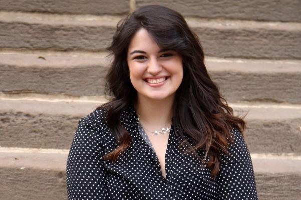 Senior Kristen Wilhelm was named Delta Sigma Pi's Collegian of the Year. <br> Photo provided by Kristen Wilhelm