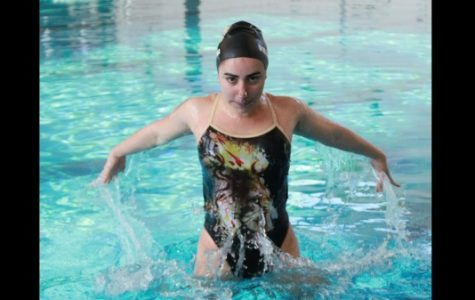 Marialaura Villasana is originally from Valencia, Venezuela and came to the U.S. to swim with Lindenwood's synchronized swimming team.  Photo from Marialaura Villasana