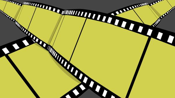 Film strip explosion.
