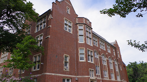 Roemer Hall, a building on the heritage side of campus.