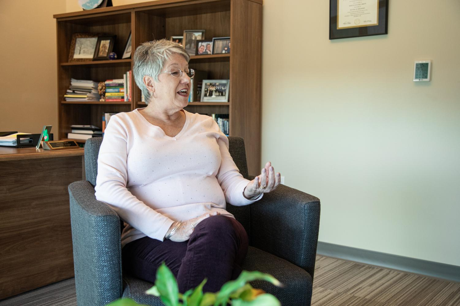 Dr. Marilyn Abbott, the university provost, has been at Lindenwood for over 20 years.   Photo by James Tananan Kamnuedkhun