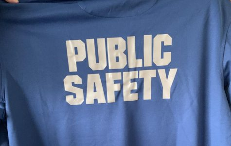 The new Public Safety uniforms are blue to help officers stand out, instead of their traditional black uniforms.