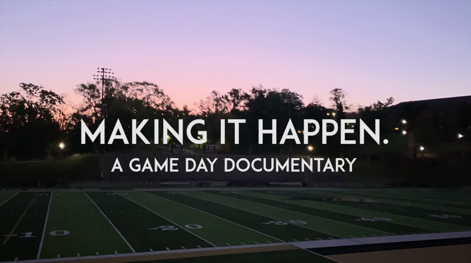 The behind the scenes of how game day at Harlen C. Hunter stadium is made.  Photo by Kayla Drake
