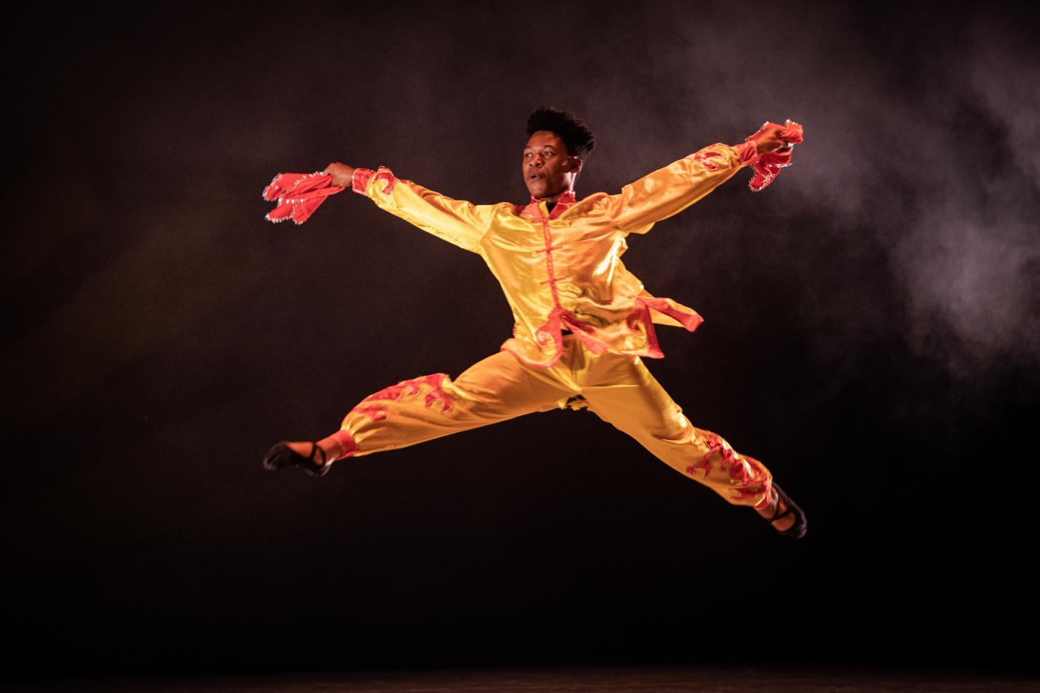 Michael Warner performs in a traditional Chinese dance titled