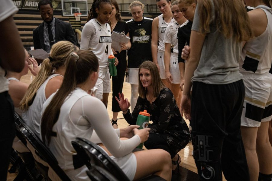 """We are three points away,"" is what head coach Katie Falco said to the team before moving on to win the match against Pittsburg State on Nov. 14, 2019 at Hyland Arena."