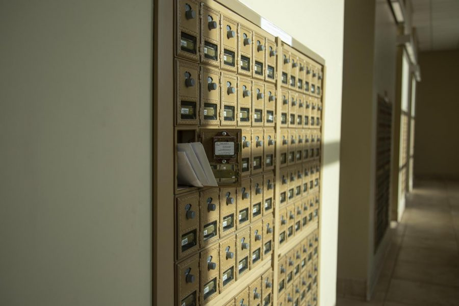 Mailroom in Evans Common.