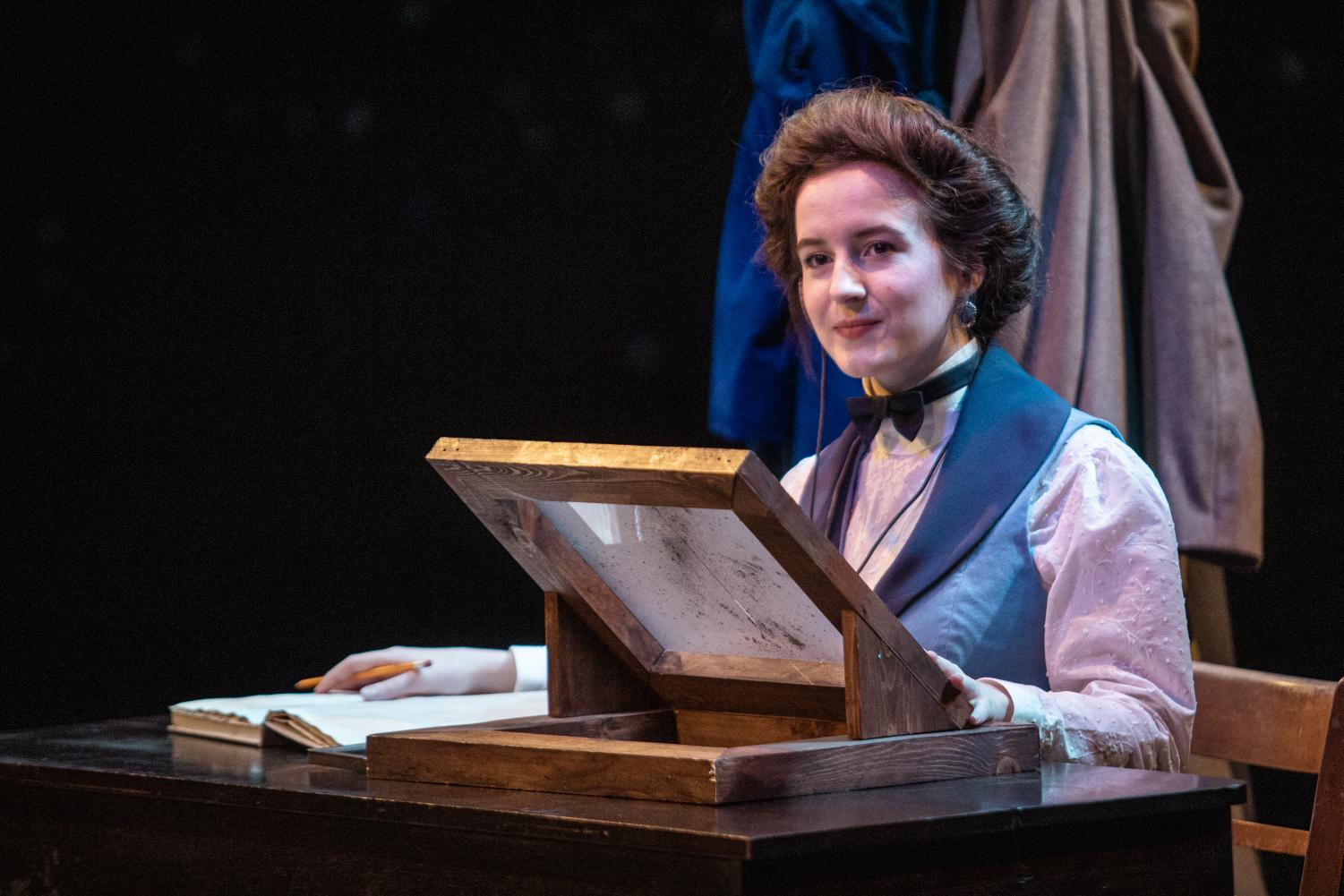 Zoe Gudehus as Henrietta Leavitt during a rehearsal of